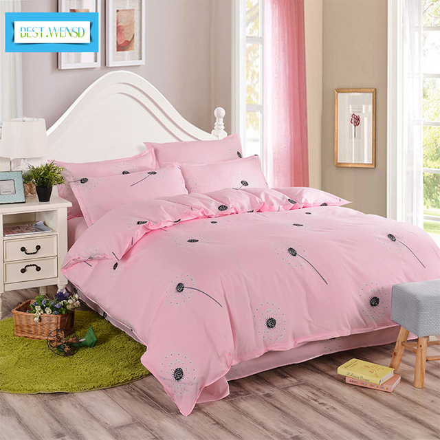 Best Wensd High Quality 2 3 People Bedclothing Twin King Size 4pcs Bed Sheets Pillowcase Duvet Cover Sets Without Comforter