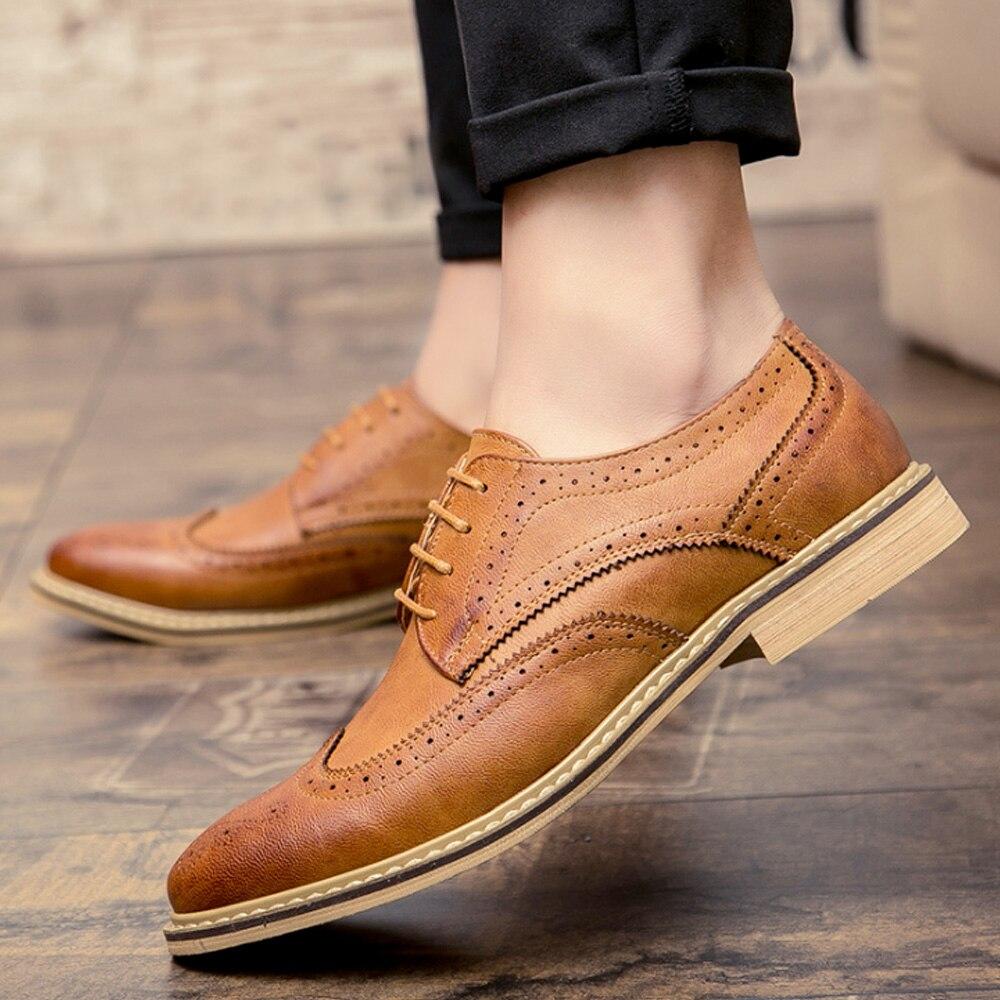 cinza Buvazik Dos Brogue Preto Escritório De Calçado Alta Sapatas Homens marrom Vestido Qualidade Sapatos Partido Formal Microfibra Do OOwqAcrT