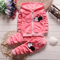 Christmas red baby baby clothes boy girl cartoon long sleeve blouse + pants 2pcs boy clothes children's clothing sets