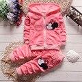 Vermelho do natal do bebê roupa do bebê da menina do menino dos desenhos animados manga longa roupas blusa + calça 2 pcs roupas menino das crianças conjuntos