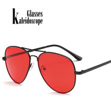 ebf4a2b201 Caleidoscopio gafas para hombre mujer marcos de Metal Oval gafas de sol  hombres mujeres de diseñador de marca Eyewears gafas roj.
