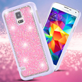 KISSCASE S5 S6 S7 Luxury Glitter Bling Rhinestone Diamond Crystal Case For Samsung Galaxy S6 S7 Edge Hard Plated Metal Cover