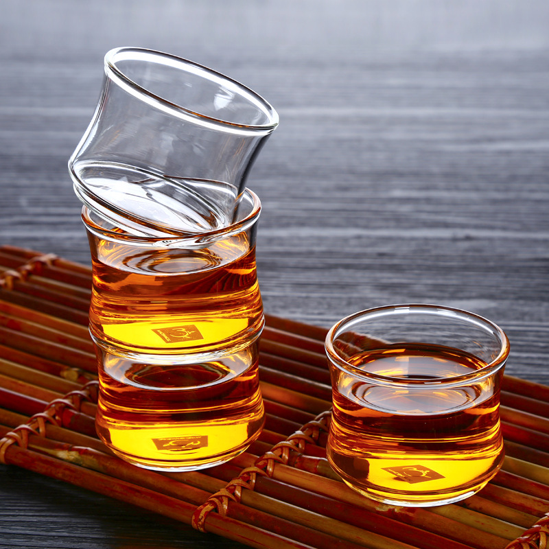 6PCS/LOT 40ml Creative Borosilicate Heat Resistant Tea <font><b>Cup</b></font> Kung Fu Tea <font><b>Set</b></font> Teacup Bowl Milk <font><b>Coffee</b></font> Liquor Drinkware Bowls image