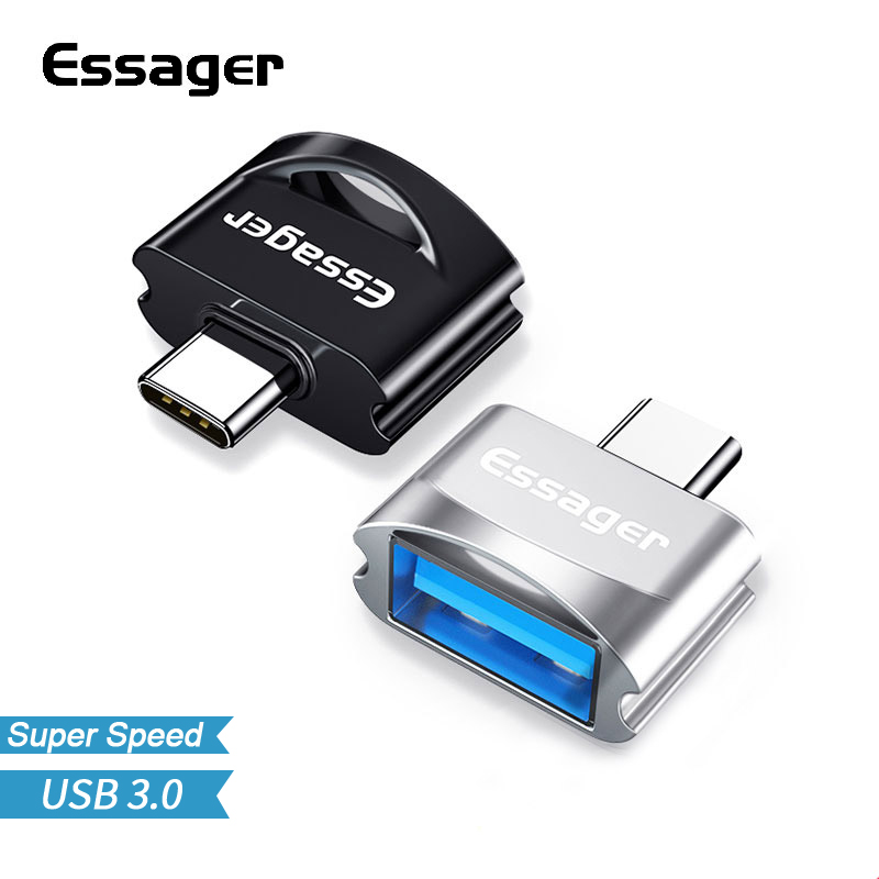 essager otg adapter usb type c for xiaomi huawei samsung. Black Bedroom Furniture Sets. Home Design Ideas