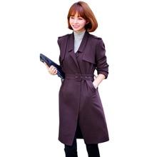 Spring Autumn New Windbreaker Coat Women Fashion Long Slim Trench coats Women's