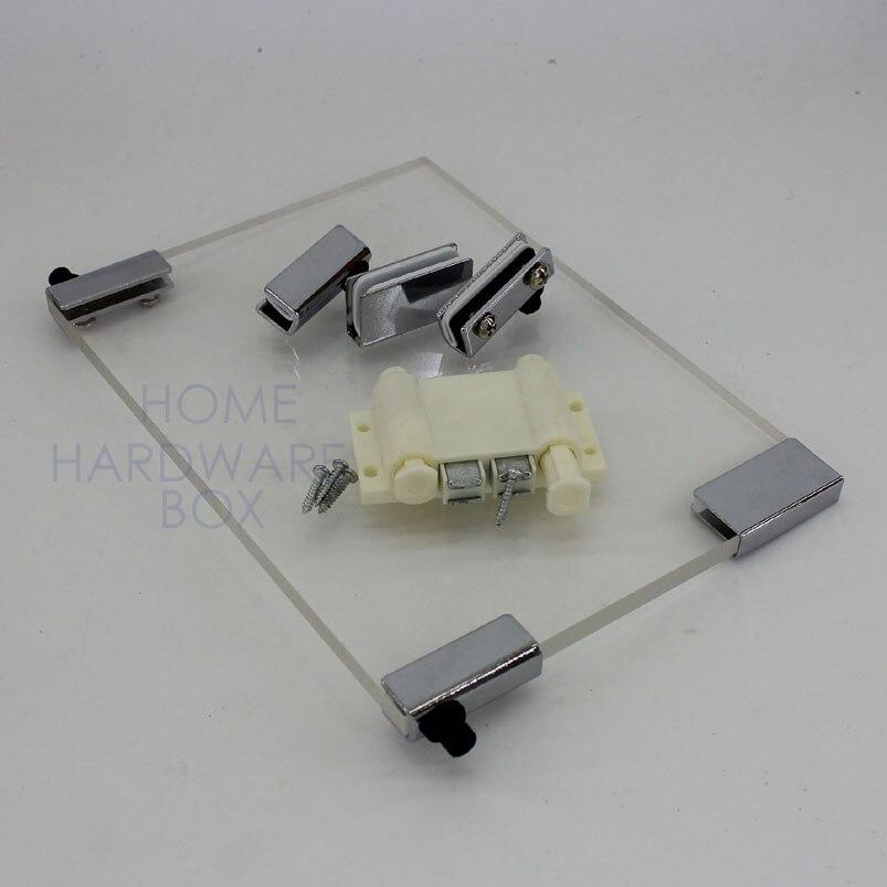 Online Shop Pivot Hinge Magnet Double Door Catch Swing Glass Clamp