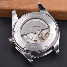 41mm corgeut Miyota 8215 5ATM Automatic wrist men's watch black dial Sapphire glass Super luminous ceramic bezel  DE87