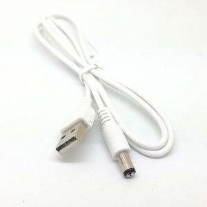 Image 1 - Nouveau blanc PC portable USB mâle à 5V DC 5.5mm x 2.1mm baril connecteur câble dalimentation chargeur câble