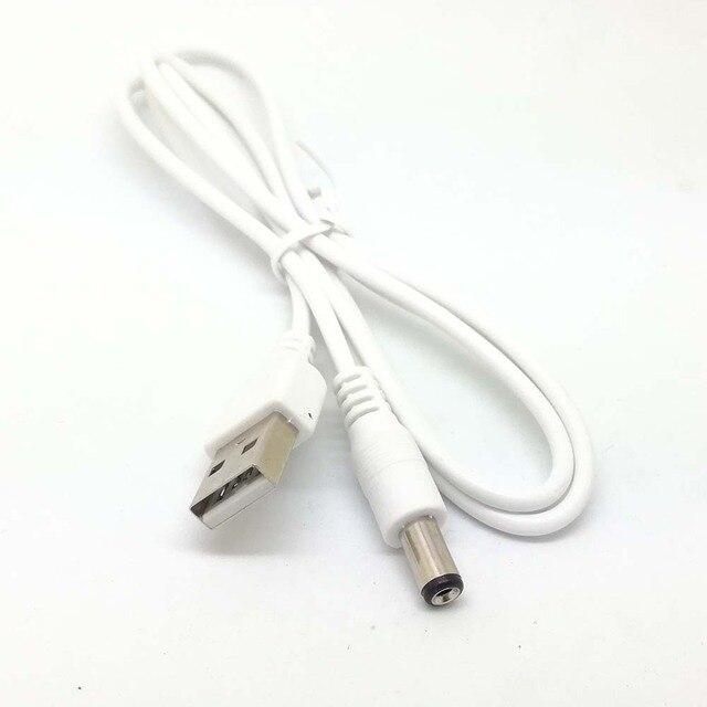 Nouveau blanc PC portable USB mâle à 5V DC 5.5mm x 2.1mm baril connecteur câble dalimentation chargeur câble