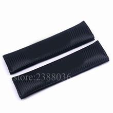 2pcs Carbon Fiber Seat Belt Cover Shoulder Padding Car Styling For BMW X3 X4 X5 X6 M3 M4 M5 M6 320d 328d 335d 520d 535d 760d цена и фото