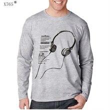X765 Brand selling 2016 new men o-Neck t-shirt men's Casual long sleeve cotton tshirts Autumn and winter Fashion man T-shirt 5XL