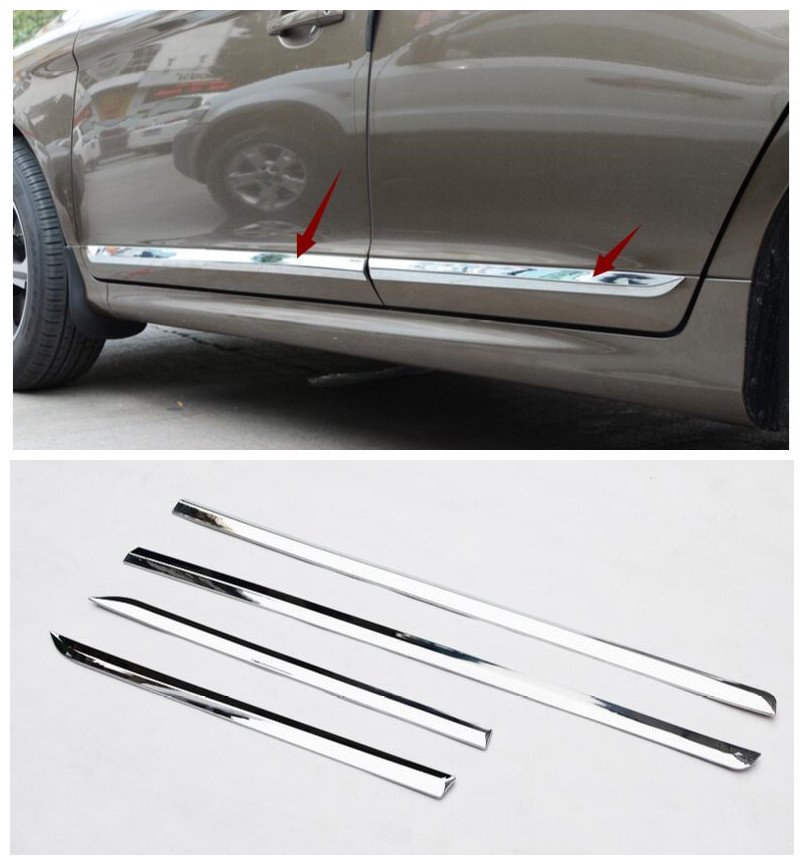 цена на high quality ABS Chrome Trim For Volvo XC60 XC 60 2014 2015 2016 Accessories Side Door Car Body Molding Cover 4pcs/set
