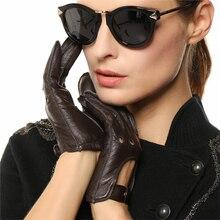 Fashion Women Sheepskin Gloves 2019 NEW Genuine Lea