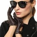 Mode Frauen Schaffell Handschuhe 2020 NEUE Echtem Leder Dünne Atmungs Elegante Dame Fünf Finger Fahren Handschuh L117W