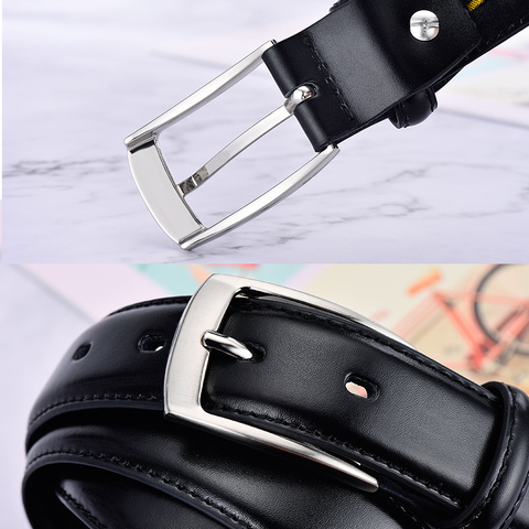 Classic Leather Belt For Men Luxury Business Male Cowhide Leather Belts 3.0 CM Casual Pin Buckle Belt For Men Dropshipping Lahore