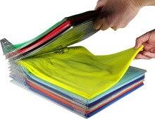 10 шт. одежда организации системы футболка складной органайзер бытовой шкаф Организатор Шкаф организовать предметы первой необходимости