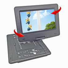 New 13.9inch Portable DVD Player Rechargerable Battery Game Player Radio Portable Analogue TV AV SD / MS / MMC Card Reader