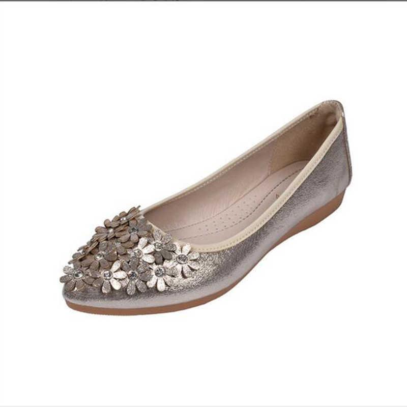 الصيف الضحلة الفم حجر الراين الأحذية المرأة حذاء مسطح أحذية تمريض الترفيه لينة النساء الحوامل وأشار الرقص shoess sy152