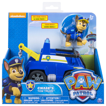 Original Nickelodeon Paw Patrol Chase's Tow Truck Spin Master Rescue Vehicle Toy Set Anime Action Figure Toys Children's Gifts