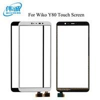 WEICHENG שחור/לבן עבור Wiko Y80 מגע מסך 5.99 אינץ לוח מגע מושלם תיקון חלקי נייד אבזרים-במסך מגע לטלפון נייד מתוך טלפונים סלולריים ותקשורת באתר