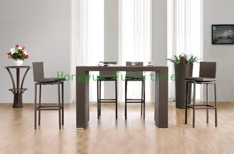 Modern brown wicker bar furniture  bar table and chair rattan furnitureOnline Get Cheap Rattan Bar Chair  Aliexpress com   Alibaba Group. Modern Bar Tables And Chairs. Home Design Ideas