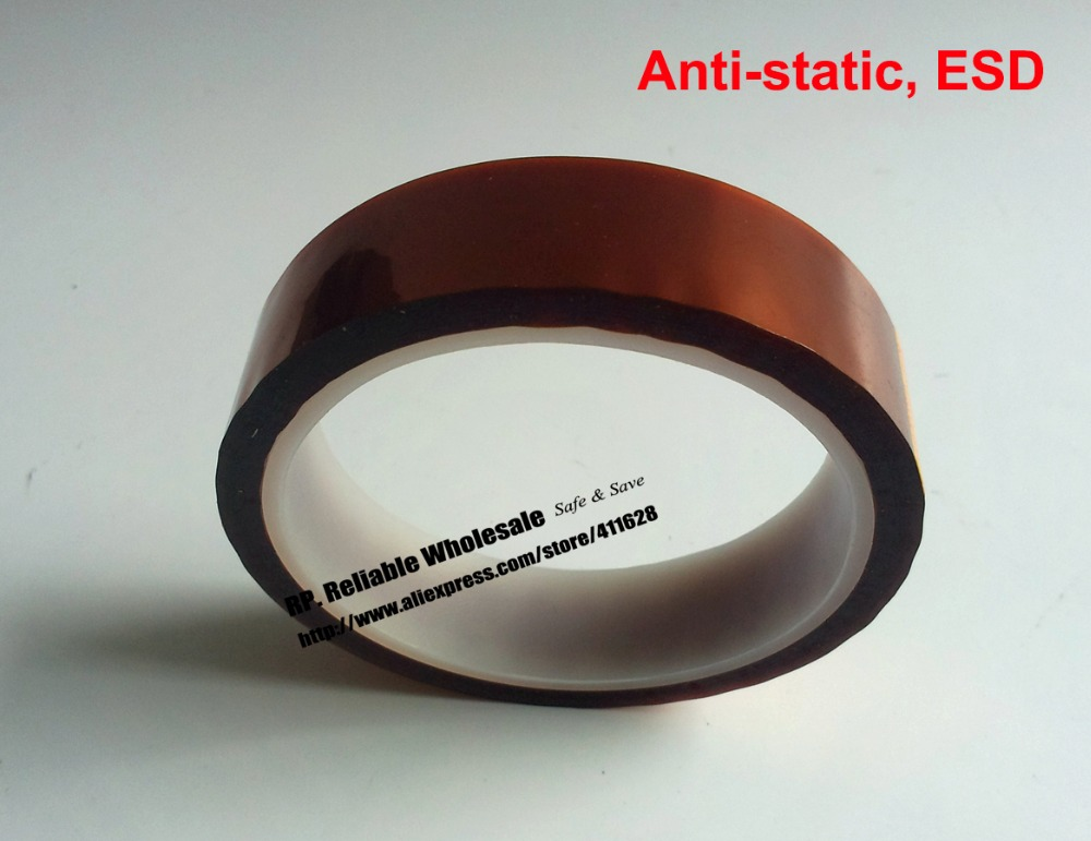все цены на 5mm*33M, Anti Static ESD Single Adheisve Polyimide Film Tape, High Temperature Withstand for PCB, SMT Mask онлайн