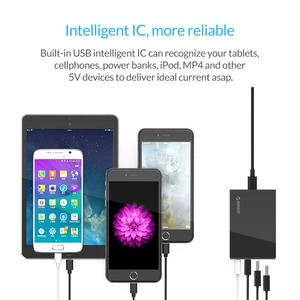 Image 4 - Orico 4/5 porto qc2.0 carga rápida 2.0 inteligente desktop do telefone móvel carregador usb universal rápido carregador para samsung iphone x 8 plus