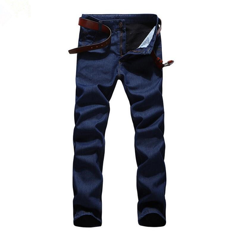 Autumn winter Men Casual Plus velvet warm Jeans Slim Straight Elasticity plus size 6XL denim pants Fashion Long Trousers w569 men s cowboy jeans fashion blue jeans pant men plus sizes regular slim fit denim jean pants male high quality brand jeans
