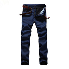 Autumn winter Men Casual Plus velvet warm Jeans Slim Straight Elasticity plus size 6XL denim pants Fashion Long Trousers w569