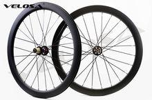 20 sätze outlet Straße 700C Scheibenbremse asym laufradsatz, 50mm rohr/klammer cyclocross bike carbo rad, u-form Asymmetrische rim
