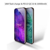18W quick charge 3.0 USB PD fast charger 10000mAh power bank external battery fast charger for iphone samsung mobile phone