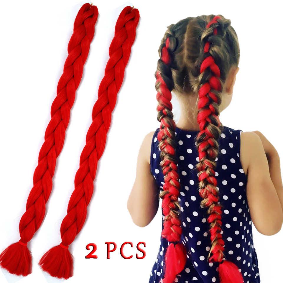 """DIFEI 82 """"Джамбо синтетические плетеные волосы для наращивания крючком длинные косички оптом розовый синий 20 цветов доступны 165 г/упак."""
