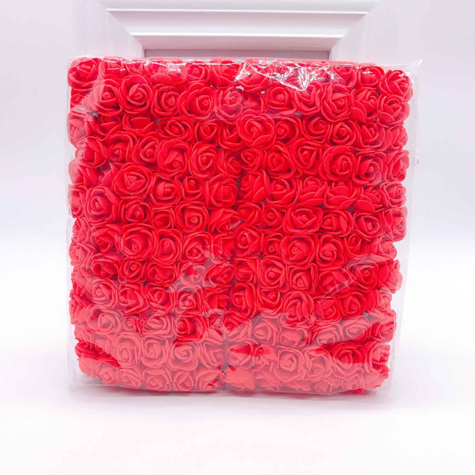 144 шт 2 см мини-розы из пенопласта для дома, свадьбы, искусственные цветы, декорация для скрапбукинга, сделай сам, венок, Подарочная коробка, дешевый искусственный цветок, букет - Цвет: 1