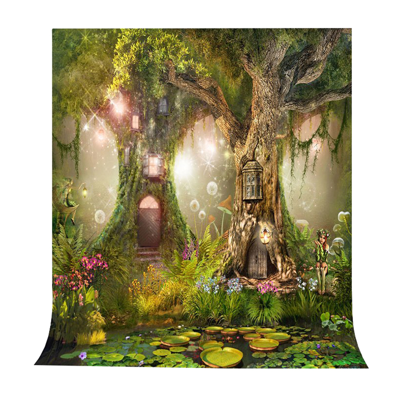 Photo Background 5X7FT Fairy Tale Photography Backdrop Studio Props For Children christmas background pictures vinyl tree wreath gift window child photocall fairy tale wonderland camera photo studio backdrop