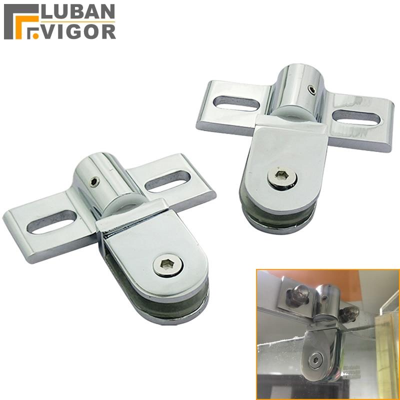 Bathroom Glass Door Clip/clamp/hinge,Rotating Door Shaft,Zinc Alloy And Stainless Steel,no Rust , Shower Accessories