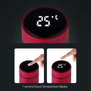 Image 4 - Inteligentna butelka wody termos ze stali nierdzewnej wyświetlacz LCD z ekranem dotykowym utrzymuj ciepło i zimno dłuższy czas pracy na baterii