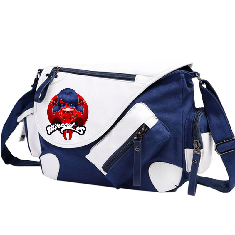 Miraculous Ladybug Shoulder bag Backpack Women Men Messenger Bags Rucksack Travel Gym Sc ...