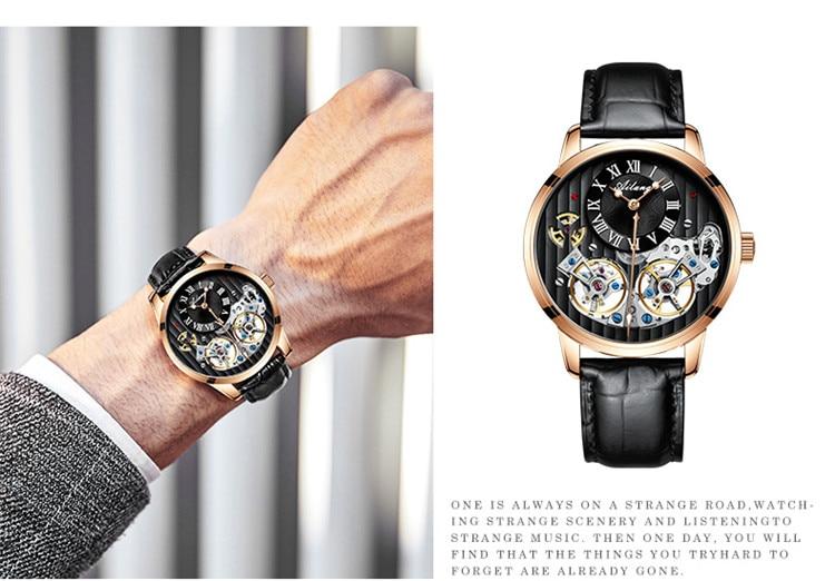 automático relógio mecânico masculino