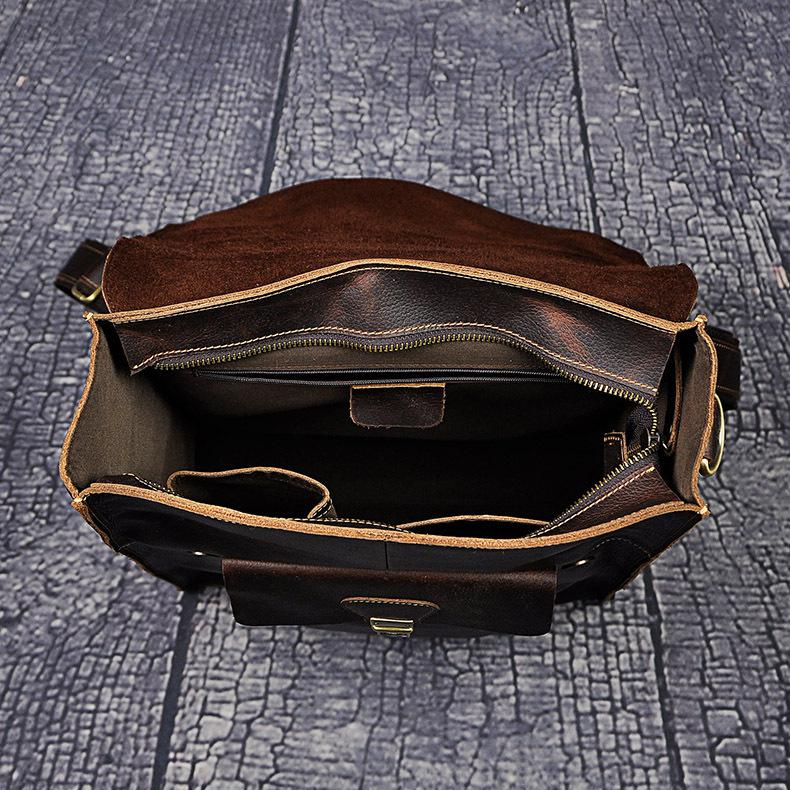 Voyage En Style Loptop Dos Vintage Grand Sacs Pouce Espace Occasionnel Hommes Cuir D'épaule Véritable De Mode À 14 CqpnwaUWa