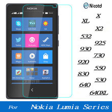 9H Screen Tempered Glass For Microsoft Lumia Nokia XL X2 532 925 730 930920 550 830 530 640 640XL 535 Premium Protector Film(China)