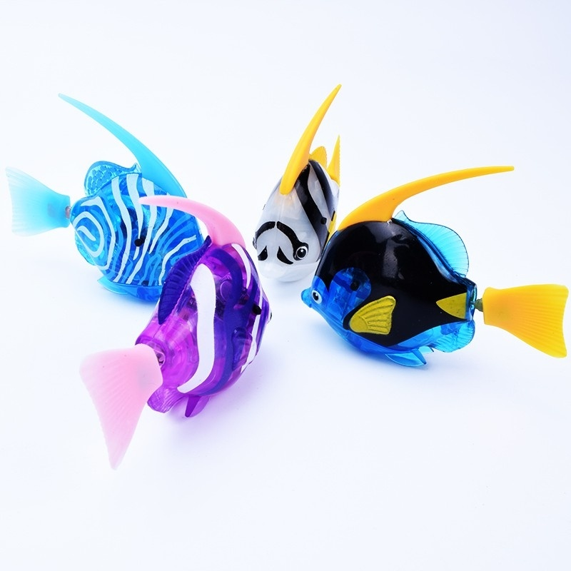 Hot Sale Urijk Electronic Robot Rubber Pet Swimming Fish Toy Aquatic