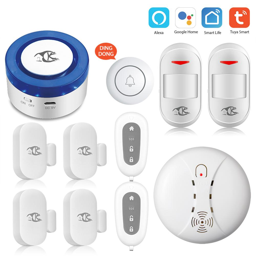 tuya alarm security system Smart home Tuya smart home Security Alarm Kit WiFi gateway Hub Door Sensor