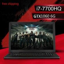 Энц K36 Игровые ноутбуки 15.6 дюйма i7-7700hq GTX 1060 6 г дискретной графикой 8 г Оперативная память + 120 ГБ SSD + 1 ТБ HDD 1920*1080 HD Бесплатная доставка