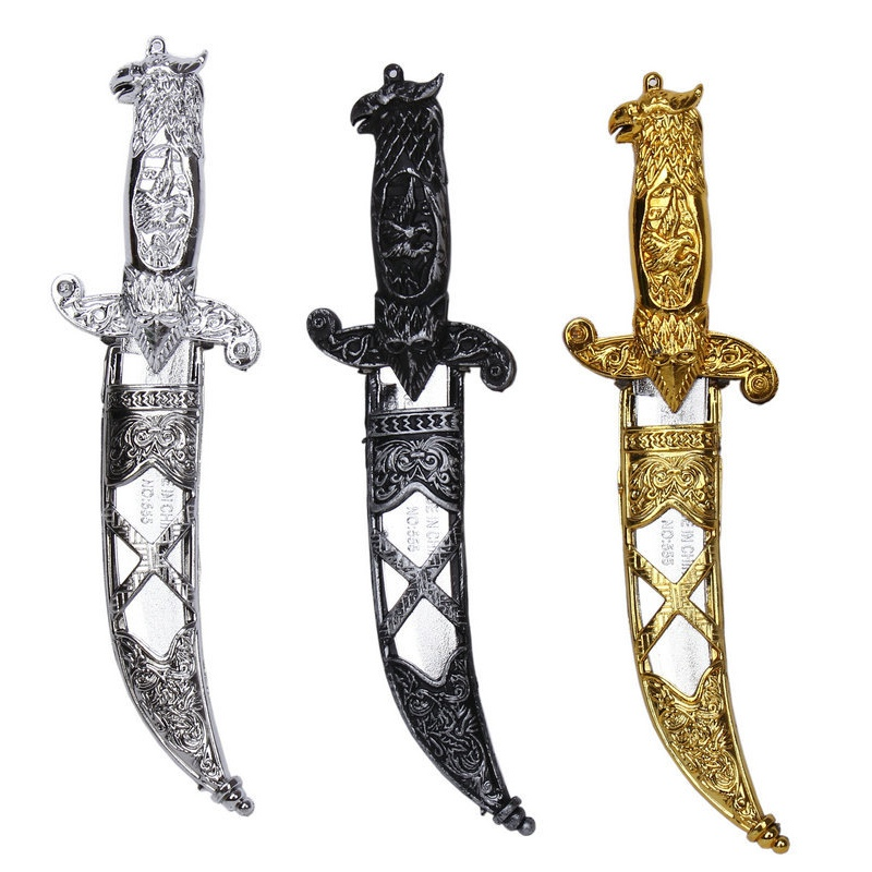 1pcs Plastic Knife Toy Train Swords Halloween Costume Party Props Simulation Plastic Sword Toy For Training Gifts New Year Gifts