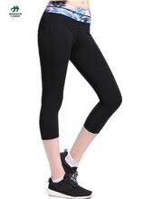 2016 Print Wasit Yoga Pants Women Fitness Tight Sports Trousers Running Capri Pants Sportswear Leggings Plus Szie S – XL FY-823