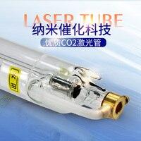 Alta energia super longa garantia co2 laser tubo 40w700mm telha gravação e máquina de corte