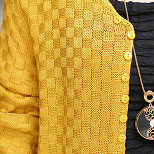 Long Autumn Cardigan With Pockets Female Long Sleeve Feminino Tops 5