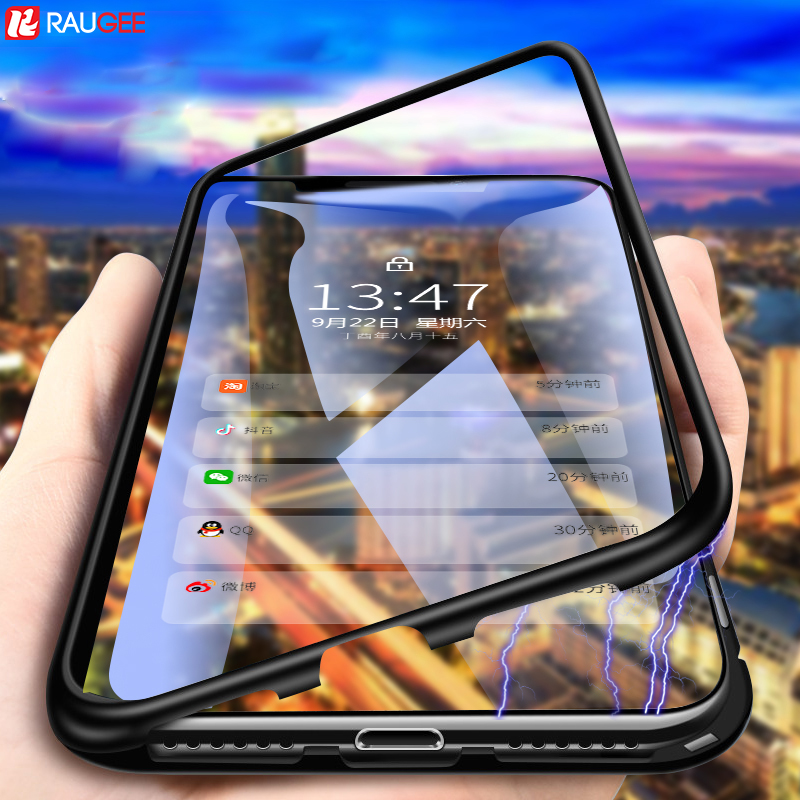 For iPhone X Case Magnetic Adsorption Phone Case Luxury