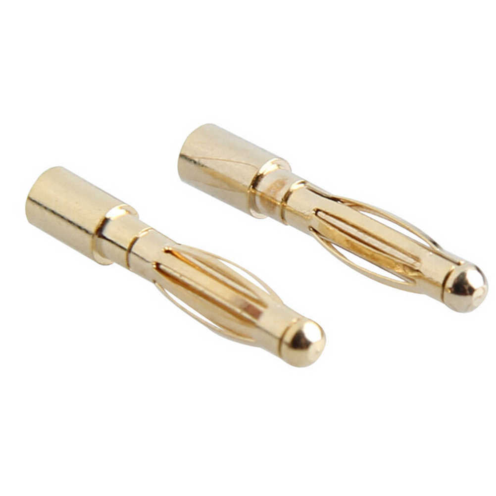 10 pair/lot Brushless Motor Banana Plug 2.0mm 2mm Gold Bullet Connector Plated For ESC Battery High Quality