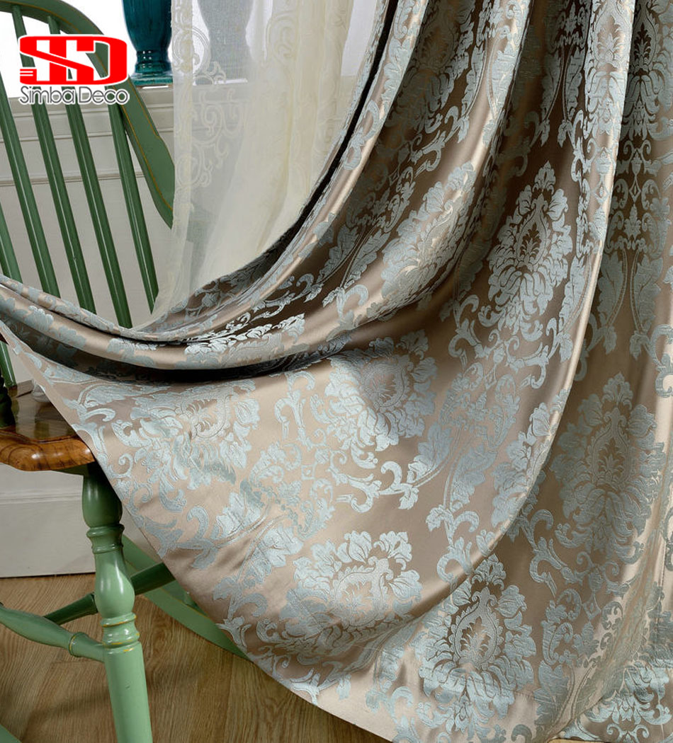Damask bedroom curtains - Aliexpress Com Buy European Curtains For Living Room Luxury Jacquard Blinds Drapes Window Panels Damask Fabric Curtain For Bedroom Shading 70 From